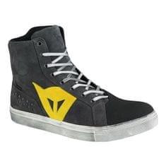 Dainese členkové skúter topánky STREET BIKER D-WP antracitová/žlté logo