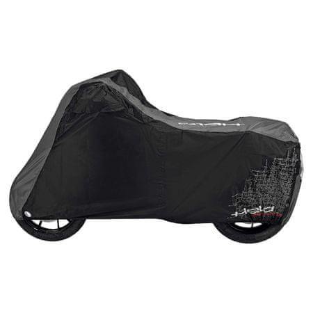 Held nepremokavá plachta ADVANCED na motorku, čierna/sivá