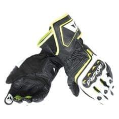 Dainese pánské sport moto rukavice  CARBON D1 LONG černá/bílá/fluo žlutá, kůže (pár)