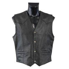 Held pánska motocyklová vesta  DILLON, čierna, koža