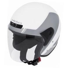 Held motocyklová otevřená (jet) přilba  HEROS bílá/stříbrná