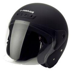 Held motocyklová otevřená (jet) přilba  HEROS matná černá