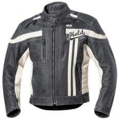 Held pánska kožená moto bunda HARVEY 76 čierna/biela