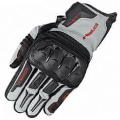 Held enduro rukavice SAMBIA na motorku šedá/černá, textil/klokaní kůže (pár)