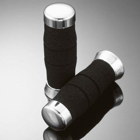 Highway-Hawk penové gripy 22mm FOAM, čierna/chróm (2 ks)