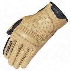 Held letné motocyklové rukavice RODNEY natur, koža (CoolMax)