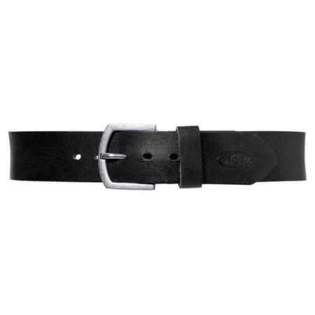 Held kožený opasok s kovovou prackou, čierny (dĺžka 115cm)