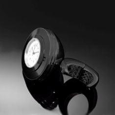 Highway-Hawk hodinky SPACE na riadidlá o priemere 25/32mm, čierna/biely ciferník