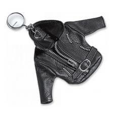 Held prívesok -kožená bunda, čierny