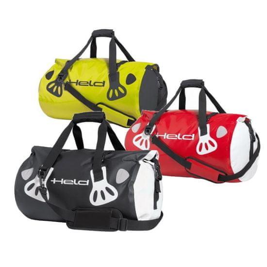 Held valec (Roll bag) CARRY-BAG 30L biela/červená, vodeodolný