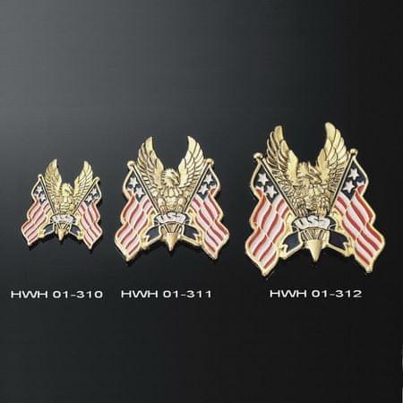 Highway-Hawk emblém samolepící, EAGLE/USA FLAG, 60mm