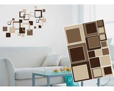 Dimex Dekoračné nálepky na stenu Hnedé štvorce - 50 x 70 cm