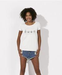 KlokArt dámské bílé tričko Stanley Stella loves