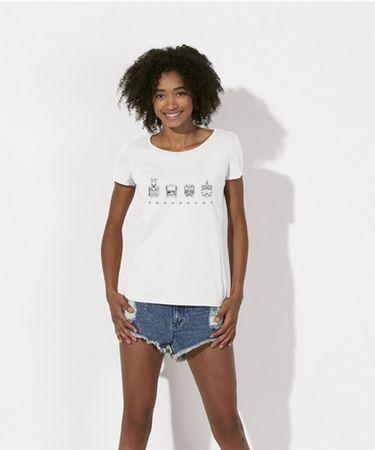 KlokArt dámské bílé tričko Stanley Stella loves S