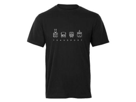 KlokArt pánské černé tričko Earth Positive XL