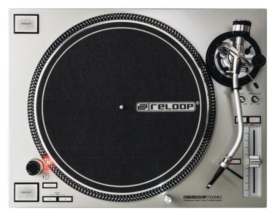 RELOOP RP-7000 MK2 SILVER DJ gramofón s priamym pohonom