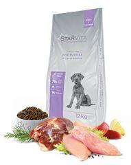 Starvita Száraz granulát kutyatáp, nagynövésű kölyökkutyák számára 12kg-ig