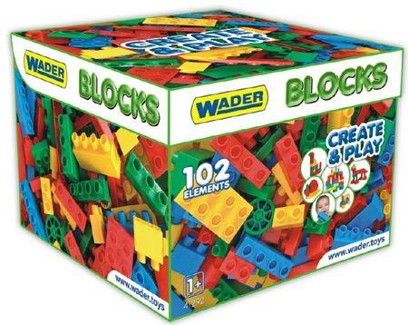 Wader Műanyag építőkockák fiúknak, 102 db