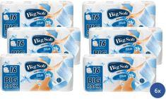 Big Soft Blue toaletný papier 3 vrstvový 6 x 16 roliek