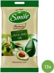 SMILE Herbalis Vlhčené obrúsky Avokádový olej 13x 10 ks