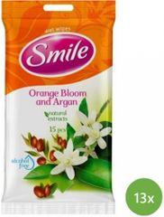 SMILE Daily Vlhčené obrúsky Pomaranč a arganový olej 13x 15 ks