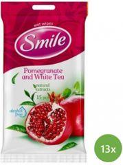 SMILE Daily Vlhčené obrúsky Granátové jablko 13x 15 ks