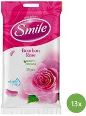 SMILE Daily Vlhčené obrúsky Bourbone rose 13x 15 ks