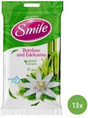 SMILE Daily Vlhčené ubrousky Bambus 13x 15 ks