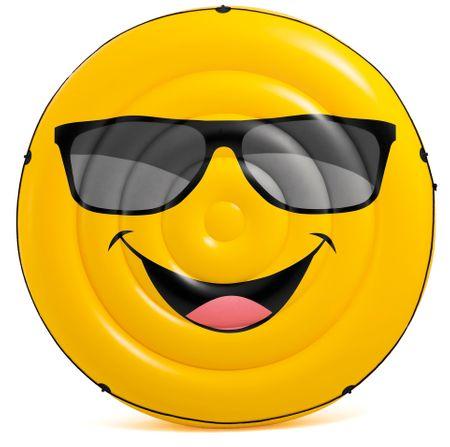 Intex okrogla napihljiva blazina Smile, 1,73 m x 27 cm