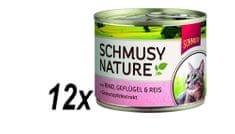 Schmusy Konzervy Nature hovězí+drůbež 12 x 190 g