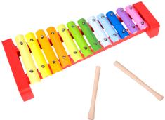 Teddies Xylofon, fa/fém 36 cm