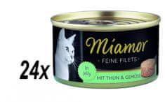 Finnern hrana za mačke Miamor, tuna i povrće, 24 x 100 g