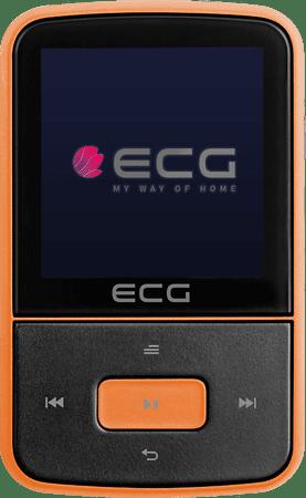 ECG odtwarzacz MP3 PMP 30 8GB, czarny/pomarańczowy