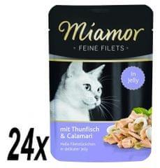 Finnern saszetka dla kota Miamor Filet z tuńczyka+Kalmary 24x100g