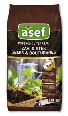 Asef Asef univerzalna zemlja za lončnice z dodanim gnojilom Osmocote, 10 l