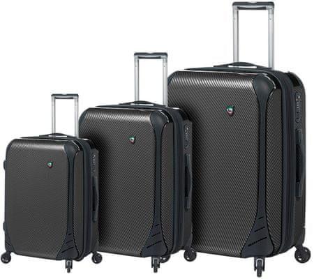 Mia Toro Utazó bőrönd készlet M1021/3, fekete