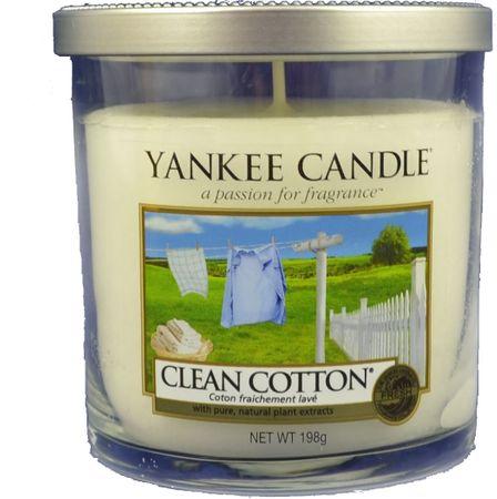 Yankee Candle Clean Cotton Décor kicsi 198 g