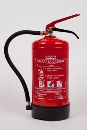 GLORIA PD4G gasilni aparat s prahom ABC, 4 kg
