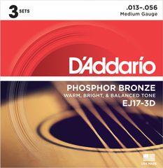 Daddario EJ17-3D Kovové struny na akustickú gitaru