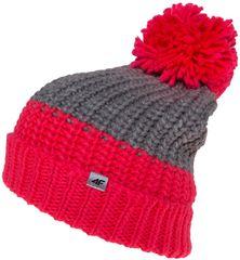 4F dziewczęca czapka J4Z17 JCAD207 neon koral