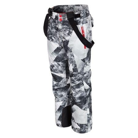 4F chłopięce spodnie narciarskie J4Z17 JSPMN401 allover czarno-biały 128