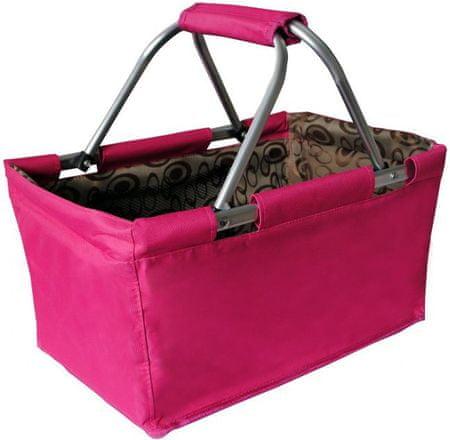TORO Összecsukható bevásárlókosár, Rózsaszín