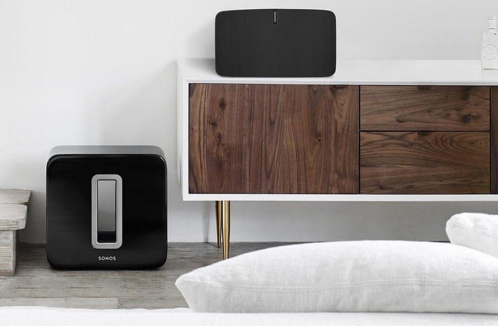 Subwoofer Sonos SUB kompatibilní s reproduktory sonos wifi připojení bezdrátový reproduktor