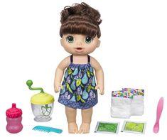 HASBRO Baby Alive Tmavovlasá bábika s mixérom