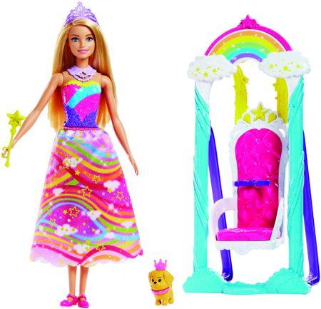 Mattel Barbie hercegnő szivárvány hintával