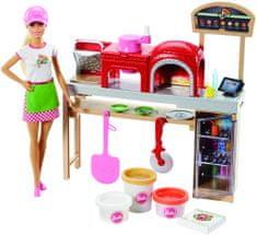 Mattel Barbie pizzasütő szett babával
