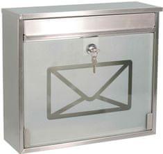 J.A.D. TOOLS poštni nabiralnik iz nerjavečega jekla, TX0160G