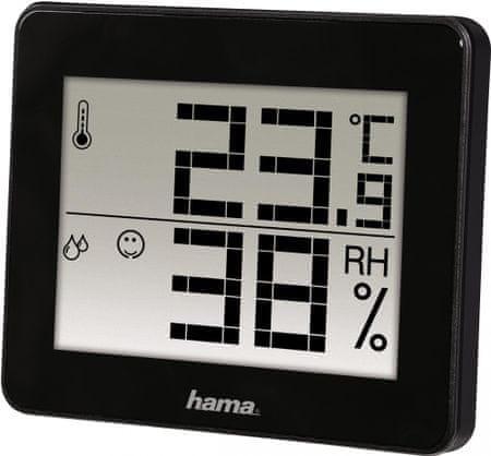 Hama TH-130 hőmérő/higrométer, fekete