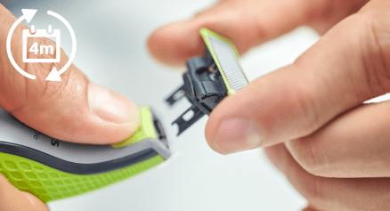 Zastřihovač vousů Philips OneBlade QP2530/30 výměna nástavců