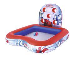 Bestway 98016 Nafukovací hrací centrum s bazénem Spiderman, 1,55m x 1,55m x 99cm